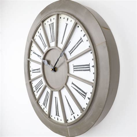 industrial wall clock edith taupe industrial wall clock by dibor