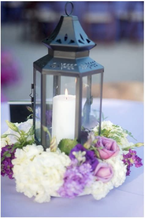wedding centerpieces with flowers and lanterns flour and flower designs june 2012