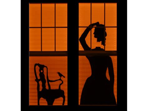haunted house window haunted house silhouettes make