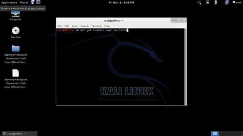 tutorial kali linux vmware vmware tools kali linux hacking tutorials