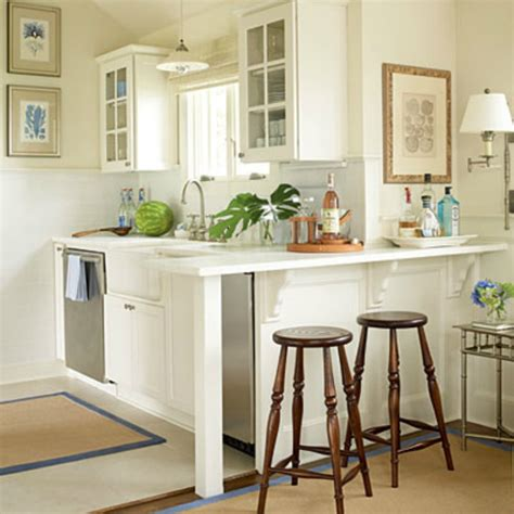 Coastal Cottage Kitchen Design Small Galley Kitchen Open Upinto Dining Room Designing Your Small Coastal Space With Function
