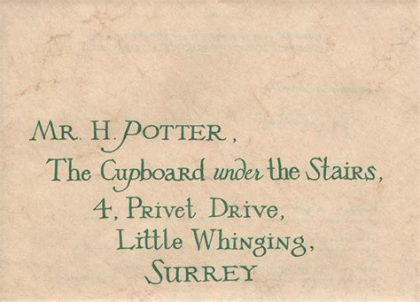 Harry Potter Acceptance Letter Address D Radcliffe Quot Harry Quot Hogwarts Acceptance Letter From Harry