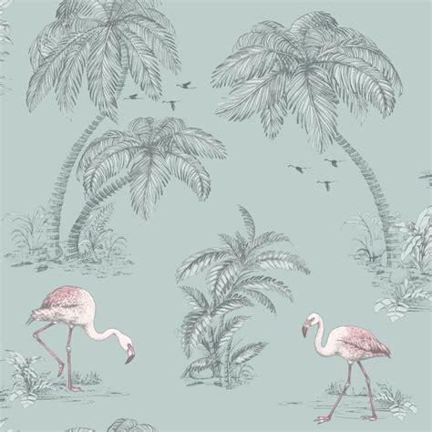 albany wallpaper flamingos flamingo lake by albany duckegg wallpaper direct