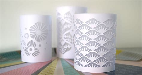 Kerzenhalter Papier by Photophores En Papier D 233 Coup 233 Paper Cut Candle Holder