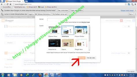membuat blogspot co id cara kedua membuat blog dengan panduan gambar