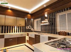 modular kitchen bedroom and staircase interior kerala home design pictures designs interiors
