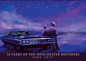 Impala nights supernatural fan art postcard by niightmoves on