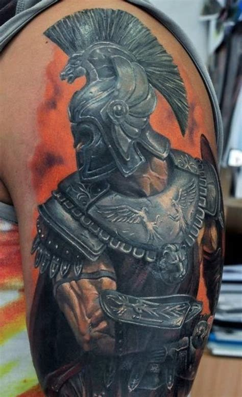 spartan quarter sleeve tattoo 60 incredible spartan tattoos