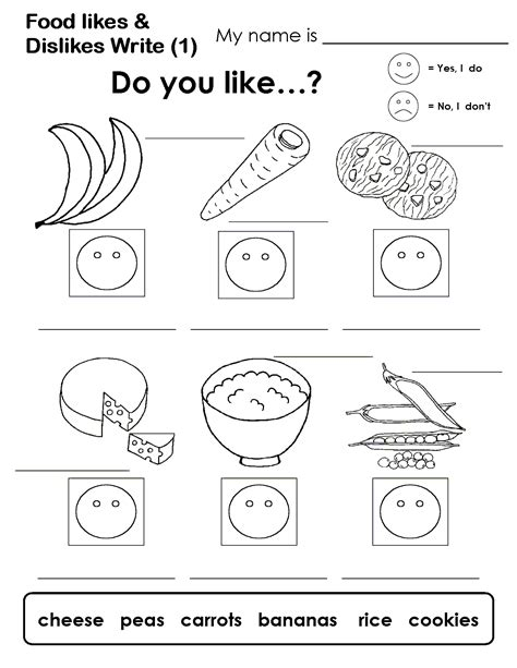 likes and dislikes worksheets pdf buscar con