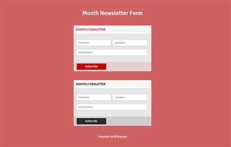newsletter signup forms that rock inspirations