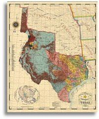 texas map store republic of texas 1845