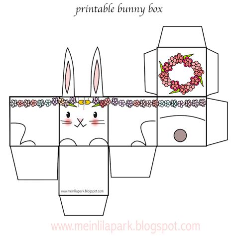 easter box templates free free printable easter bunny box ausdruckbare diy box
