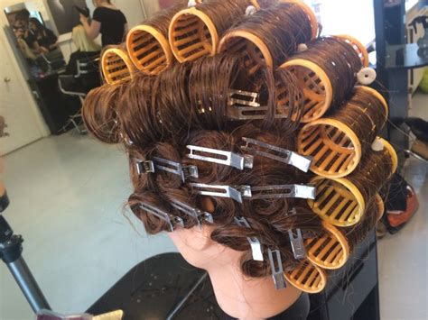 roller set rollers and vintage on pinterest on base rollers and pin curls sexy in curlers