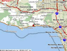 malibu california map california map