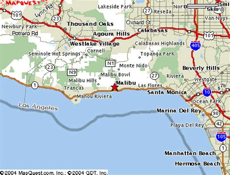 california map malibu malibu california map california map