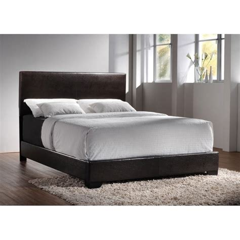 coaster upholstered bed coaster conner king upholstered platform bed in cappuccino