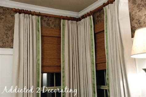 ribbon trimmed curtains ribbon trimmed dropcloth curtains curtains are cool