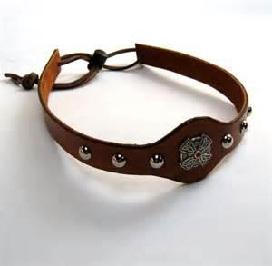 leather headband leather headband sca headband by birchcreekleather on etsy
