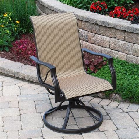 backyard creations somerset swivel rocker at menards 174