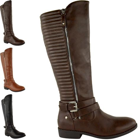 mid heel knee high boots womens thigh high the knee low mid block heel