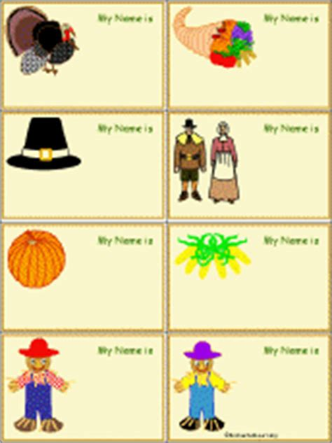 free printable turkey name tags thanksgiving name tags to print enchantedlearning com