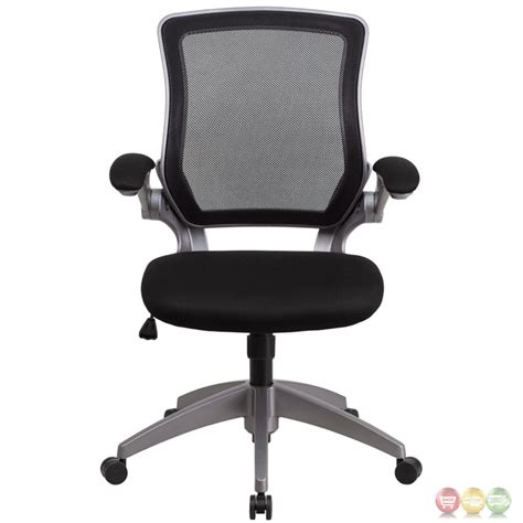 Mid Back Mesh Chair by Mid Back Black Mesh Swivel Task Chair With Gray Frame And