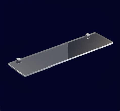 Mensola Cristallo Mensola In Cristallo Satinato 40 Cm Con Morsetti Quadrati