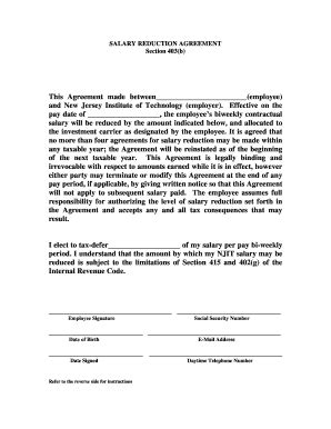 Salary Agreement Letter Format Wage Agreement Template Fill Printable Fillable Blank Pdffiller