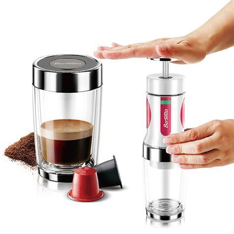 Portable Press Coffee Maker original barsetto portable press coffee maker mini handheld espresso pods coffee capsule