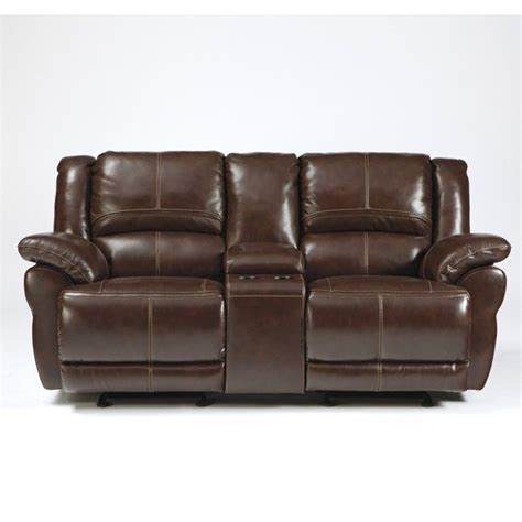 glider recliner loveseat ashley furniture lenoris leather glider reclining loveseat