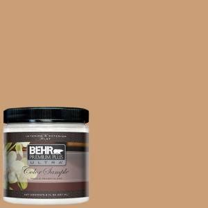 behr premium plus ultra paint 8 oz icc 62 pumpkin butter interior