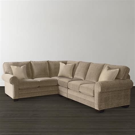L Shaped Sectional Custom Upholstery Bassett Furniture Sectional Sofas