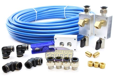 rapid air garage shop compressed air line kit complete system 100 ft 1 2 quot new