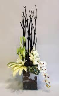 Vase For Bamboo Plant Modern Sympathy Arrangement Wow Floral Design Studio