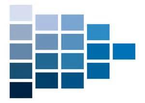 青系の明度 彩度のカラーチャート