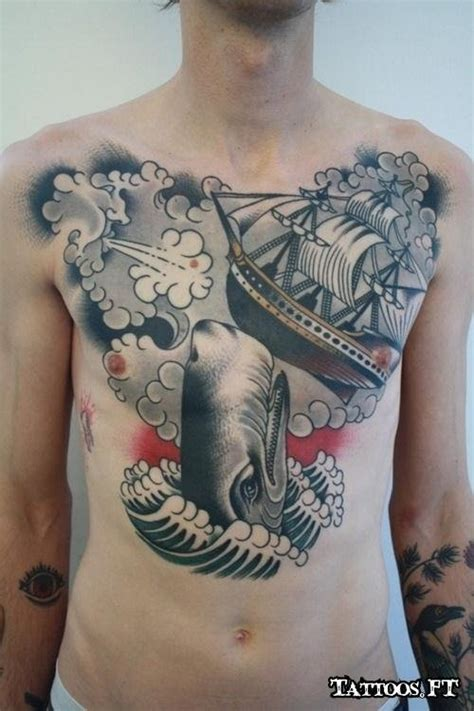 tattoo inspiration chest enemies of sailors chest tattoo japanese tattoo