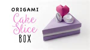 how to make a cake box template origami cake slice box tutorial triangular box paper
