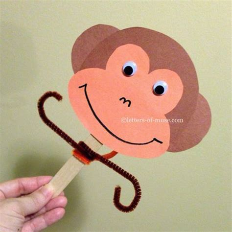 monkey craft for 58 best images about craft stick puppets on