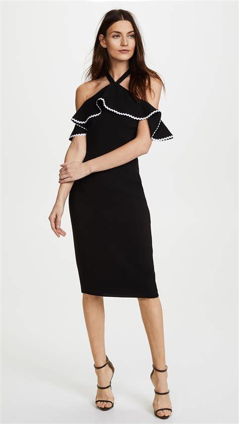Mima Dress lyst shoshanna mima dress in black