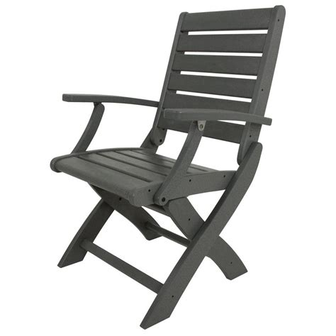 folding patio chairs home depot trex outdoor furniture yacht club charcoal black highback