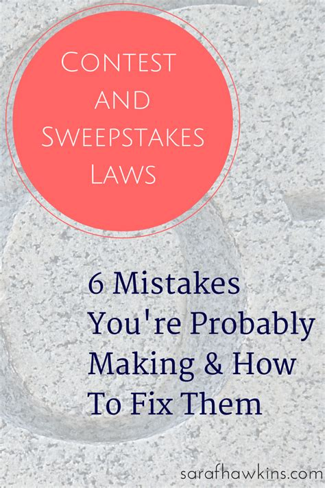 People Sweepstakes - contests and sweepstakes law mistakes how to fix them