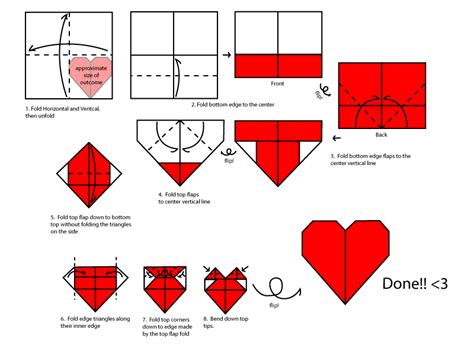 How To Fold Paper Hearts Step By Step - origami by mastaazumarek on deviantart