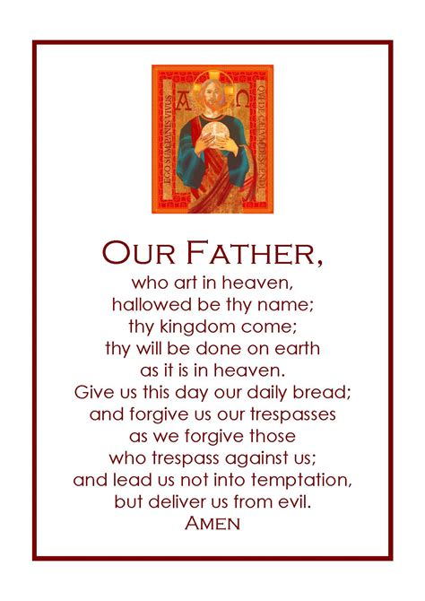 words to our father who art in heaven