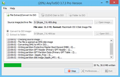 cd format udf iso anytoiso open extract convert to iso extract iso make iso