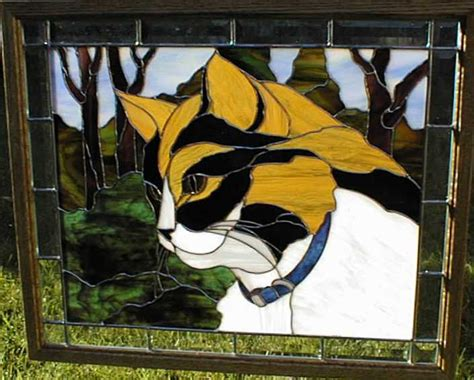 stained glass cat l sidney the cat