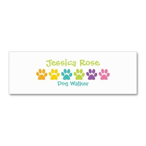 Paw Print Business Card Template by 1000 Images About Animal Pet Care Business Cards On