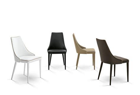 sedie casa sedia imbottita in pelle clara by bontempi casa