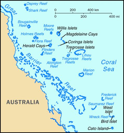 coral sea map maps of coral sea islands map library maps of the world