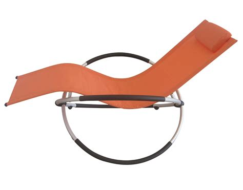 Rocking Garden Lounger Foxhunter Zero Gravity Garden Folding Recliner Rocking Chair Sun Lounger Orange Ebay