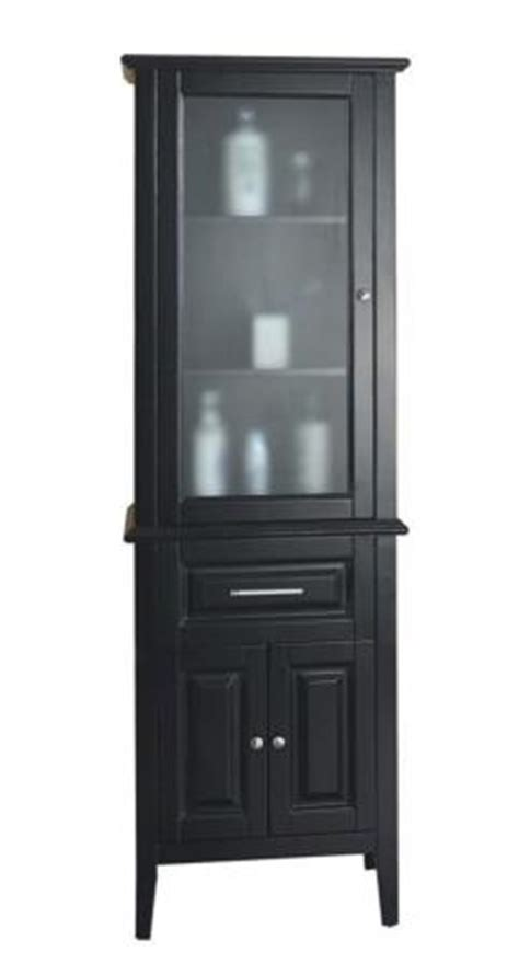 Espresso Bathroom Linen Cabinet With A Glass Door Uvvumdc5324 Glass Door Linen Cabinet